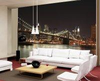 Salon z fototapetą na ścianie